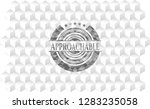 approachable grey badge with... | Shutterstock .eps vector #1283235058