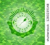 sperm icon inside green mosaic... | Shutterstock .eps vector #1283235148