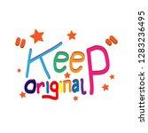 keep original text background ... | Shutterstock .eps vector #1283236495