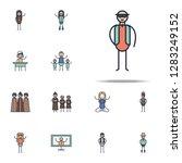 rhythm musician icon. linear... | Shutterstock .eps vector #1283249152