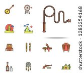 whip colored icon. wild west... | Shutterstock .eps vector #1283254168