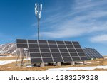 high altitude solar energy and... | Shutterstock . vector #1283259328