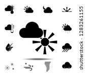 sun  cloud icon. simple glyph...
