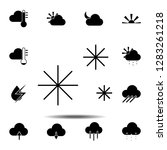 snow icon. simple glyph vector...