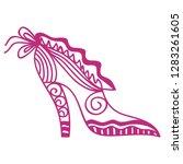 shoe. vector illustration | Shutterstock .eps vector #1283261605