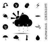cloud  snow or rain  sun icon....