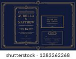 classic premium vintage style... | Shutterstock .eps vector #1283262268