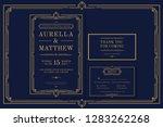 classic premium vintage style... | Shutterstock .eps vector #1283262268