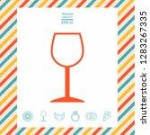 wineglass symbol icon. graphic... | Shutterstock .eps vector #1283267335