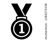 first  1st place gold medal... | Shutterstock .eps vector #1283273158