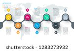 circle label infographic with... | Shutterstock .eps vector #1283273932