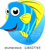 tropical butterfly fish | Shutterstock .eps vector #128327765