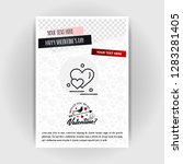 valentine's day love poster... | Shutterstock .eps vector #1283281405