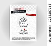 valentine's day love poster... | Shutterstock .eps vector #1283287165