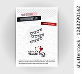 valentine's day love poster... | Shutterstock .eps vector #1283290162