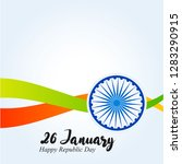 india republic day. 26 january... | Shutterstock .eps vector #1283290915