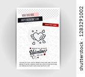 valentine's day love poster... | Shutterstock .eps vector #1283291002