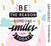 inspirational quote  motivation.... | Shutterstock .eps vector #1283301685