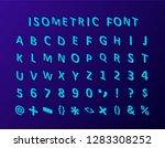 isometric 3d font. three... | Shutterstock .eps vector #1283308252