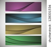 4 color curvy striped line... | Shutterstock .eps vector #128331536