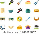 color flat icon set   cheese... | Shutterstock .eps vector #1283322862