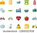 color flat icon set   mothers... | Shutterstock .eps vector #1283322928