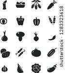 solid black vector icon set  ... | Shutterstock .eps vector #1283323618