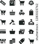 solid black vector icon set  ... | Shutterstock .eps vector #1283323762