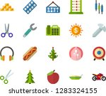 color flat icon set   christmas ... | Shutterstock .eps vector #1283324155