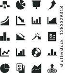 solid black vector icon set  ... | Shutterstock .eps vector #1283329318