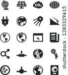 solid black vector icon set  ... | Shutterstock .eps vector #1283329615