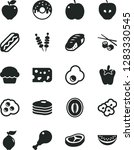 solid black vector icon set  ... | Shutterstock .eps vector #1283330545