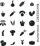 solid black vector icon set  ... | Shutterstock .eps vector #1283331448
