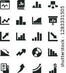 solid black vector icon set  ... | Shutterstock .eps vector #1283331505