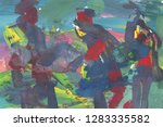 bright multi colored painting ... | Shutterstock . vector #1283335582