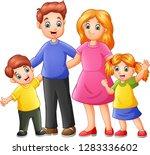 happy family cartoon | Shutterstock .eps vector #1283336602