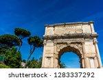 italy  rome  roman forum  arch... | Shutterstock . vector #1283337292