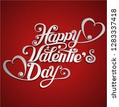 happy valentine's day paper cut ... | Shutterstock .eps vector #1283337418