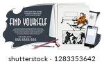 stock illustration. climber in... | Shutterstock .eps vector #1283353642