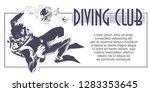 stock illustration. scuba... | Shutterstock .eps vector #1283353645