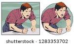 stock illustration. angry... | Shutterstock .eps vector #1283353702