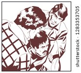 stock illustration. men helping ... | Shutterstock .eps vector #1283353705