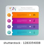 infographics design vector and... | Shutterstock .eps vector #1283354008