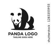 black and white panda logo... | Shutterstock .eps vector #1283355955
