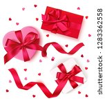 set of decorative love gift box ... | Shutterstock .eps vector #1283362558