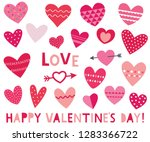 isolated vector red hearts ... | Shutterstock .eps vector #1283366722