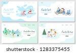 family outdoor activities flat... | Shutterstock .eps vector #1283375455
