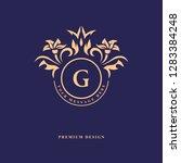 monogram design elements ... | Shutterstock .eps vector #1283384248