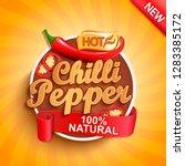 hot chilli pepper logo  label... | Shutterstock .eps vector #1283385172