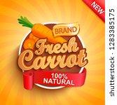 fresh carrot logo  label or... | Shutterstock .eps vector #1283385175